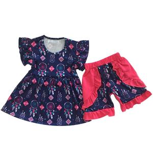 organic baby clothing toddler girl bow cute sets 2pcs outfit