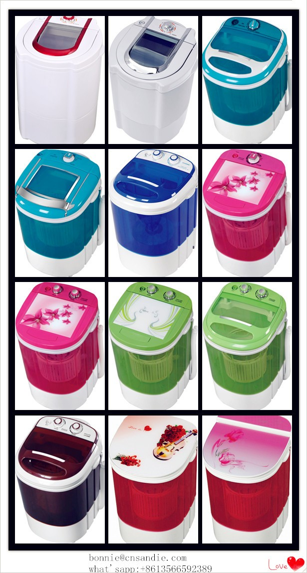 SANDIE OEM of transparent body top loading semi automatic mini/baby washing machine/single tub cheap washing machines