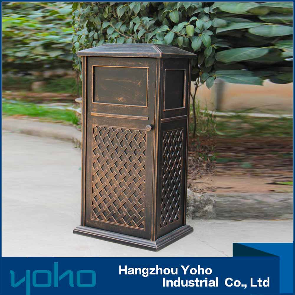 Garbage Can Aluminum Patio Park Bin Waste Rubbish Trash Receptacle   Buy  Trash Receptacle,Rubbish Bin,Bin Waste Product On Alibaba.com