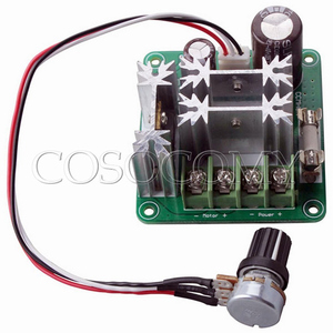 Upgraded PLC 6V-90V 15A 1000W Pulse Width PWM DC Motor Speed Regulation Controller with knob