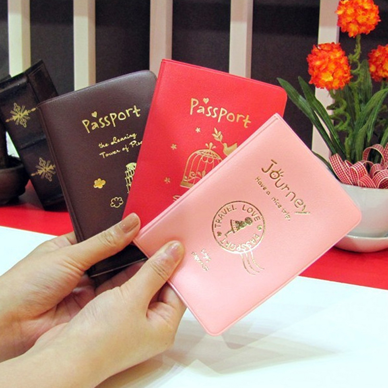 86f6c13f4948 2016 New Fashion Passport Cover Documents Bag Utility PU Leather ...