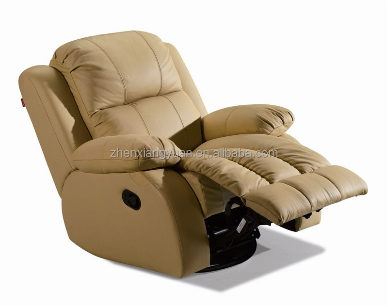 living room genuine leather recliner rocker swivel chair SF2723