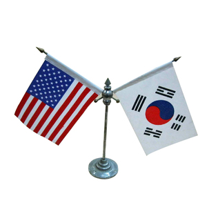 "Wholesale Custom Cheap Polyester 4""x6"" Small Size Mini Negotiation Table Desk Flags"