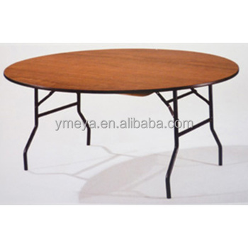 Used Metal Frame Restaurant Banquet Folding Wood Tables,used Hotel  Furniture Folding Dining Tables (