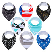 Alibaba whole sales bamboo baby bibs for drooling and teething