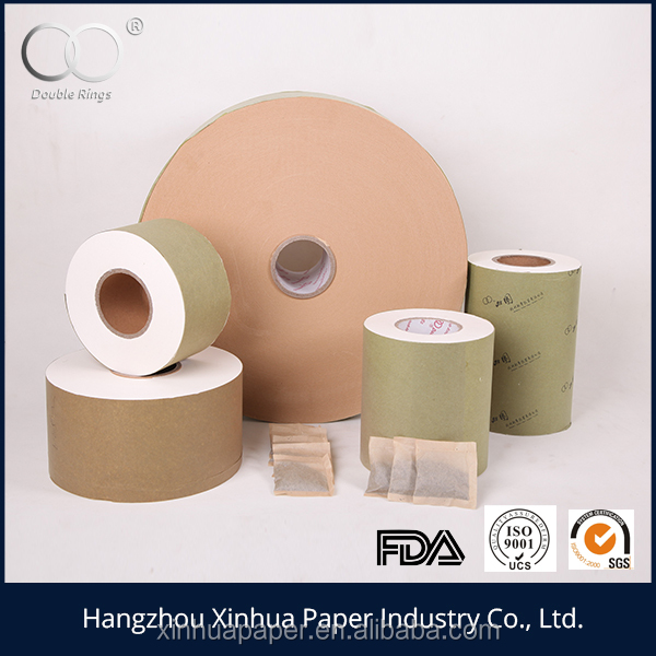Excellent seal performance 16.5g 125mm heat seal tea bag filter paper