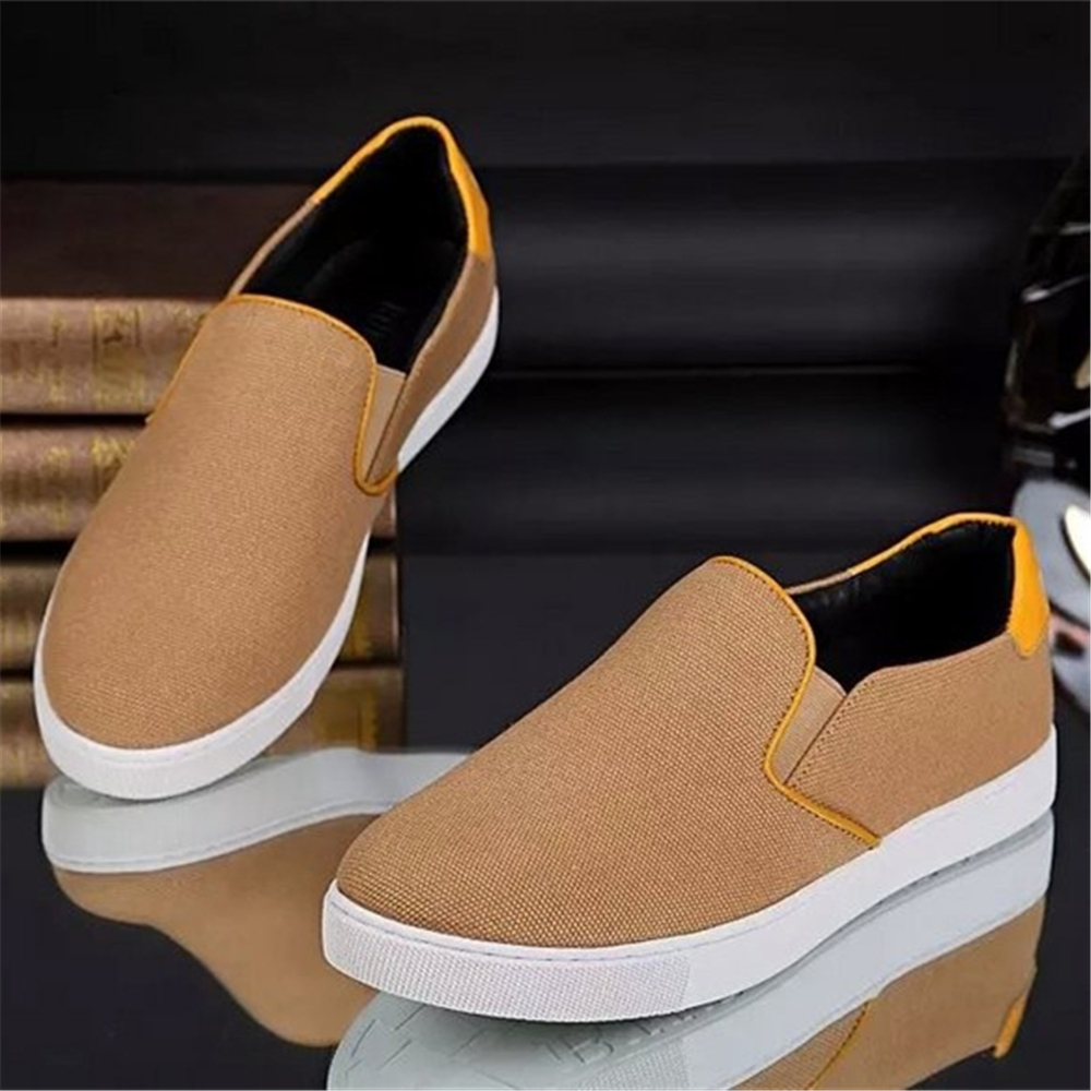 top grade UK brand 2017 new designer genuine leather lining men fabric flat shoes