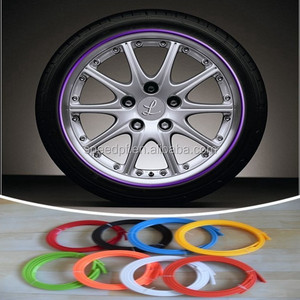 DIY mutilfunction PA-66 car sticker skirts auto wheel rim protector