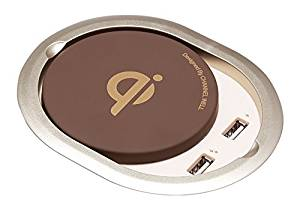 Channel Well Advanced Built-in Wireless Charger (Champagne)-Embedded Furniture for All Qi-Enabled Device (For iPhone 8/ 8Plus, iPhone X, Samsung S7/S8 and more)