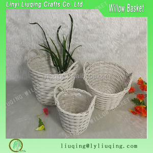 Wholesale cheap Christmas Willow Flower Basket for plant