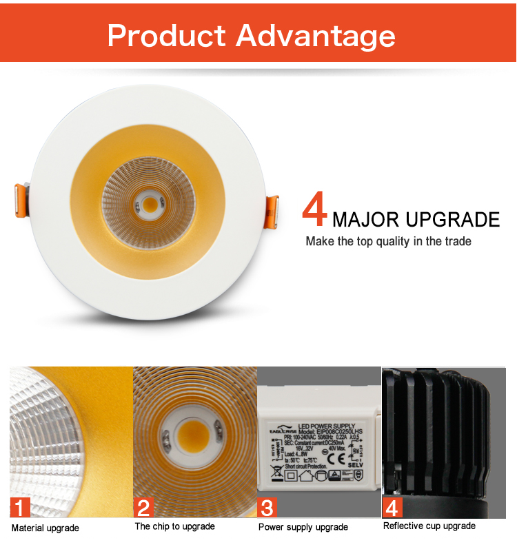 Leimove gold best led spotlight recessed for decoration-10