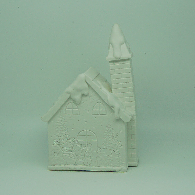 Christmas white ceramic christmas village house with LED light