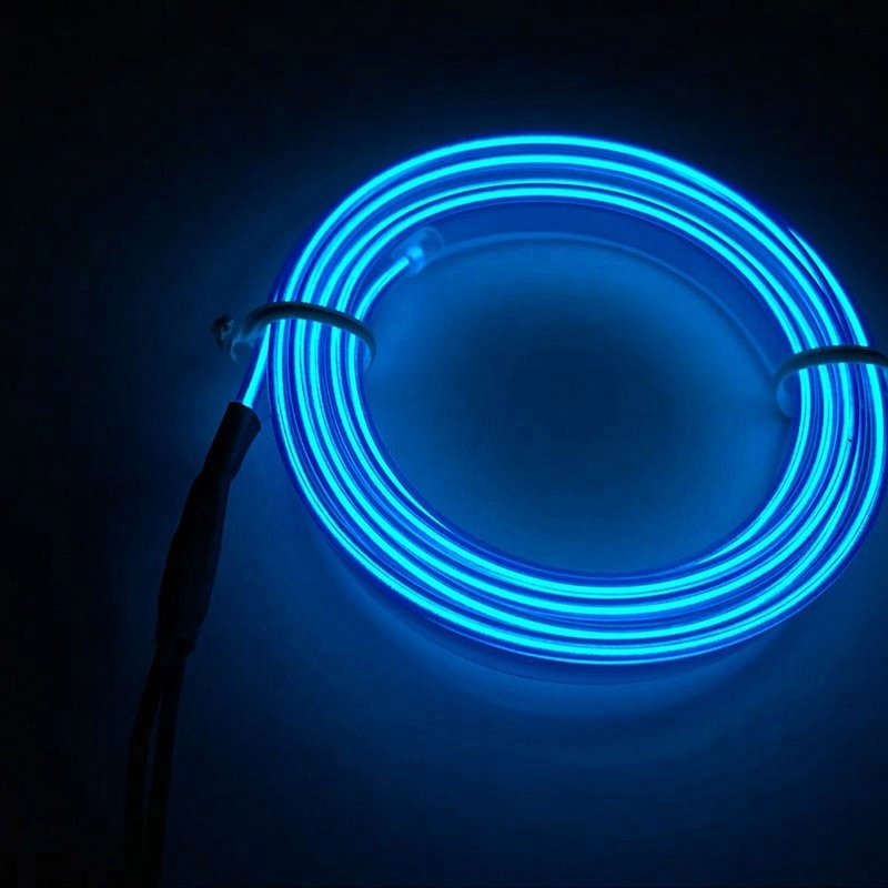 Universal LED Car Auto Interior Decorative Atmosphere Lamp Blue Light Wire Strip