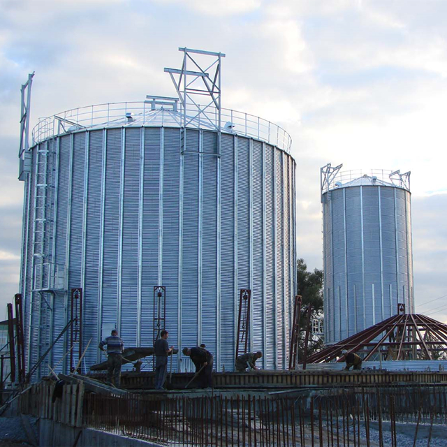 Shandong high quality stainless 100 ton steel cement silo for sale