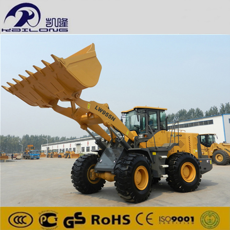 5000KG Rated Load Pilot Control Front Payloader 3m3 Bucket Wheel Loader Price