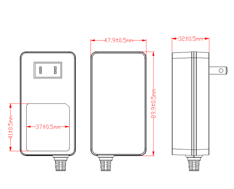 Power Adapter 100 240 V 50 60Hz AC DC Adaptor 33 W 33 V 1A AC DC Power Adapter untuk LED LCD Display