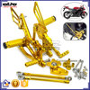 ARS-CBR600-10 Customized Gold CNC Adjustable Rearset Foot Rear Set Motorcycle Footrest For Honda CBR600RR 2007-2015