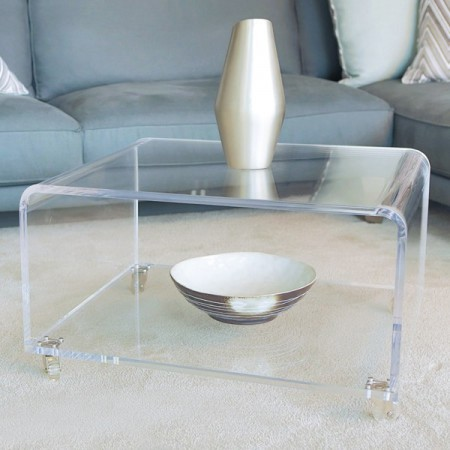 Perspex Clear Acrylic Coffee Table With Wheels - Buy Perspex Clear Acrylic Coffee Table With