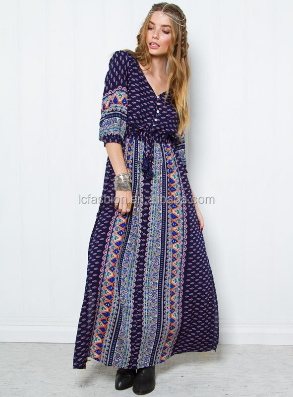2016 New Arrival Boho Hippy Gypsy Style Ethnic Dress for Women LC666