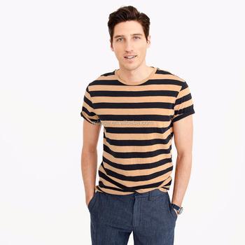 e1f67732987 Blank Striped T-shirts 60% Cotton 40% Polyester T-shirts New Pattern ...