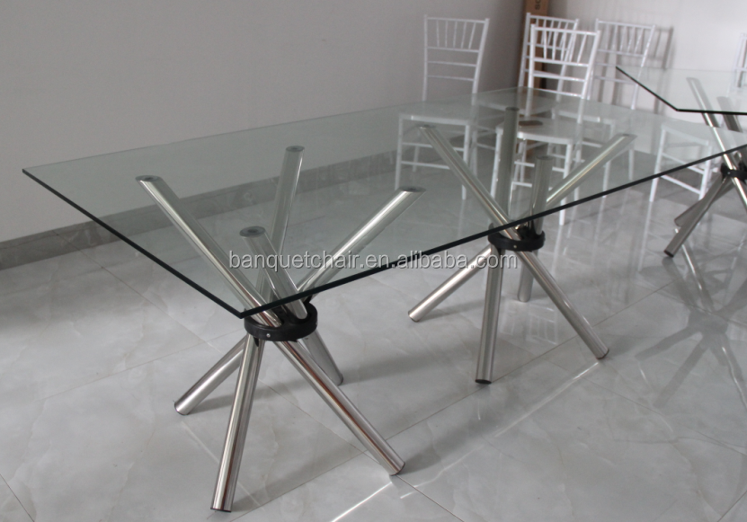 Hot Sale Rectangle Modern Glass Table Top Hotel Wedding Table   Buy Glass  Wedding Table,Modern Wedding Table,Cheap Wedding Table Product On  Alibaba.com