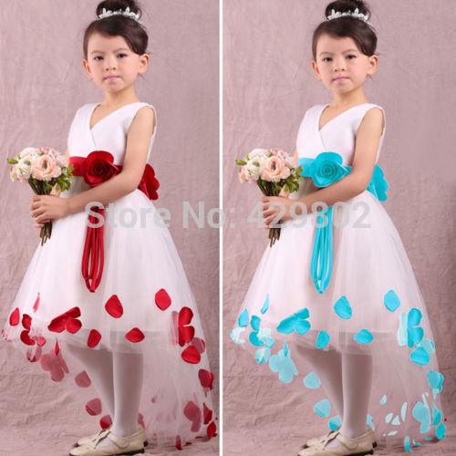Hot Sales Popular Christmas Baby Girls Kids Flower Petals Party Wedding Prom font b Fancy b