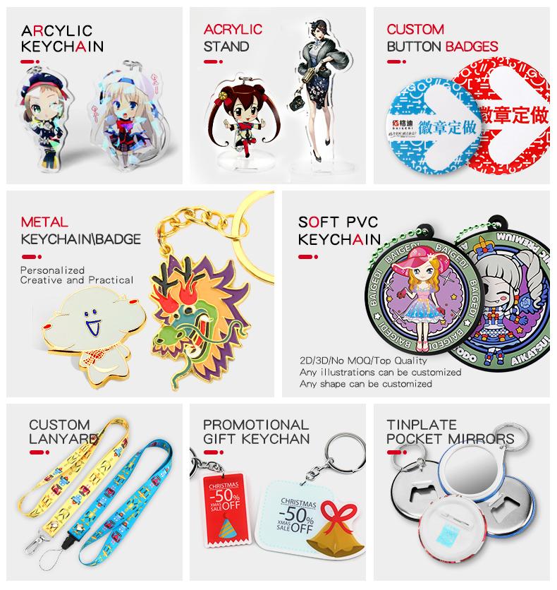 Maak Uw Eigen Stripfiguren Gepersonaliseerde Acryl Custom Sleutelhanger
