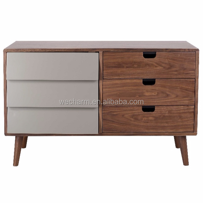 livingroom storage cabinet walnut drawer chest