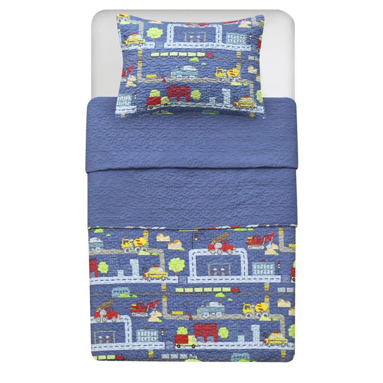 Printed Quilts with Car Pattern for Juvenile