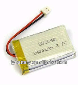 803048 li ion polymer rechargeable battery 3.7v 2400mah