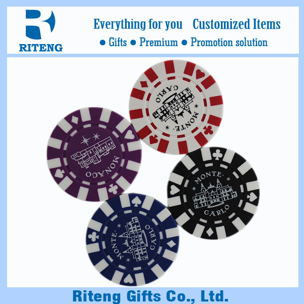 Clay Insert Plastic Casino Poker Chips For Sale