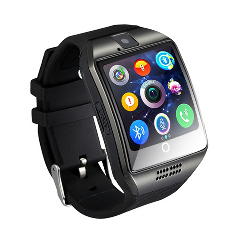 Wireless Smart Watch Men Q18 With Touch Screen Big Battery Support TF Sim Card Camera for Android Phone Smartwatch фото