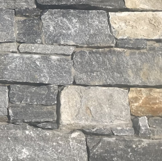 Gray Granite Meshed Cement Back Wall Tile Cladding /Stone Outdoor Wall/Exterior Stone Veneer