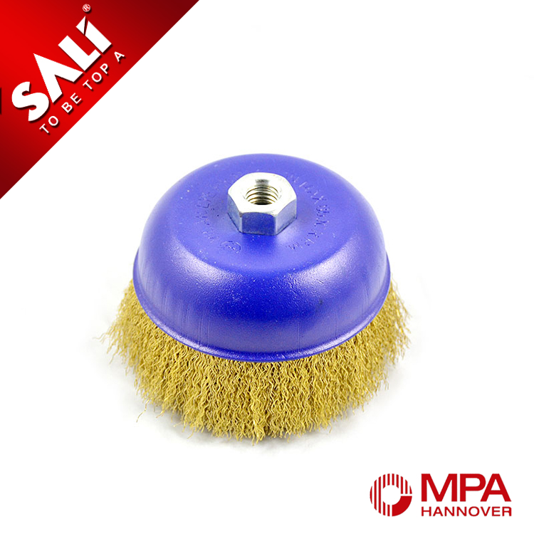 Germany standard cup small wire brush, brass wire cup brush, round wire brush
