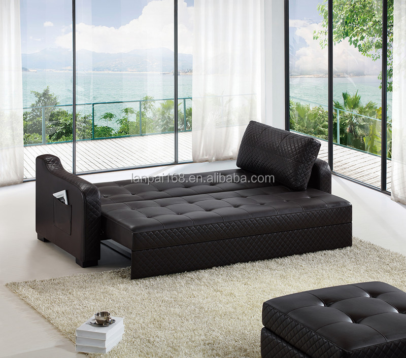 De cuero moderno sofá muebles juego de sala abatiendo sofá cama ...