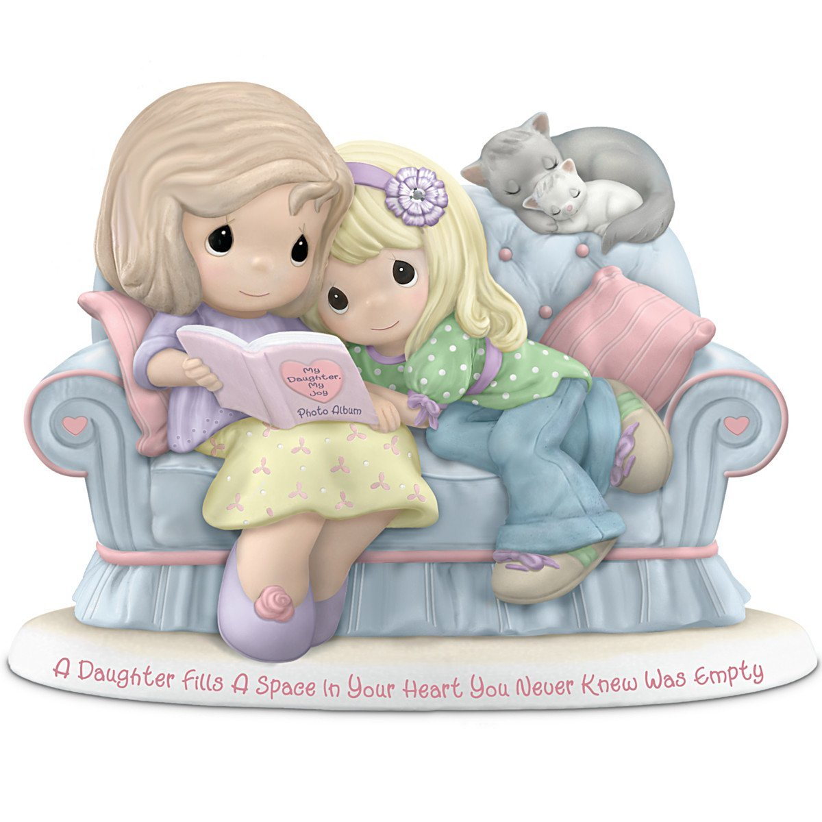 Precious Moments Figurine: A Daughter Fills A Space In Your Heart You Never Knew Was Empty by The Hamilton Collection