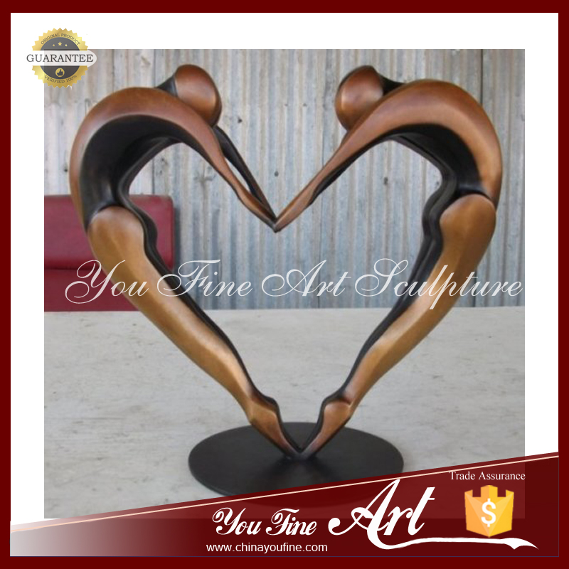 Double Arch Heart Shaped Dancers Bronze Sculpture