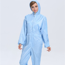 ESD Lab Zip Up Hooded Anti Statische Jumpsuit Overall Uniform <span class=keywords><strong>werkkleding</strong></span>