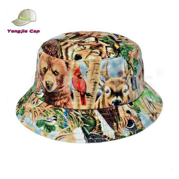 Cool Reversible Cotton Floral Designer Printed Custom Bucket Hats ... 457b6926f06