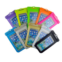 doble-use deep water floatable mobile phone waterproof dry pouch bag case