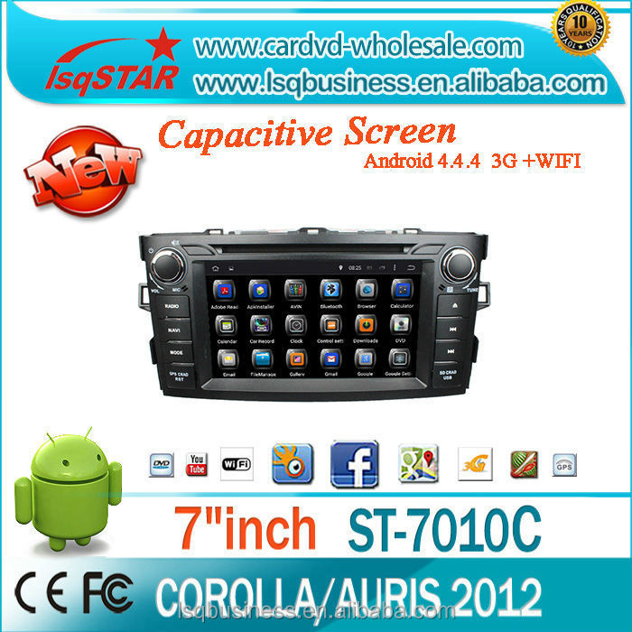 Quad Core Android 4.4 Car DVD Player GPS Navigation for <strong>Toyota</strong> <strong>corolla</strong> 2012 HD1024*600 Support mirror link