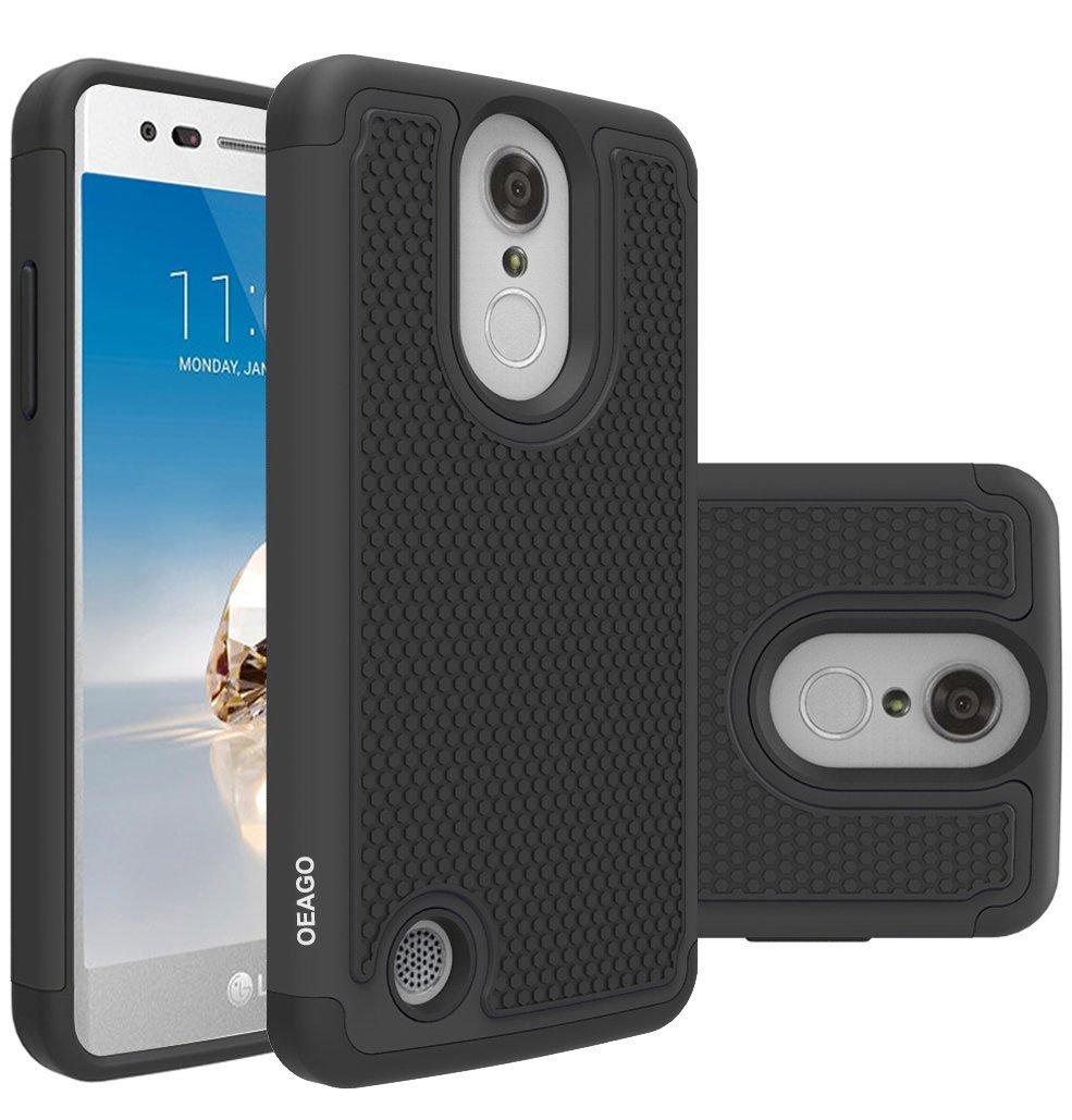 For LG Aristo Case, LG Phoenix 3 Case, LG Fortune Case, LG Rebel 2 LTE  Case, LG Risio 2 Case, LG K8 2017 Case, OEAGO [Shockproof] Hybrid Dual  Layer