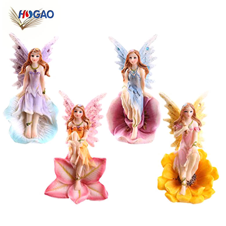 China Import Items Small Y Resin Flower Fairy Figure