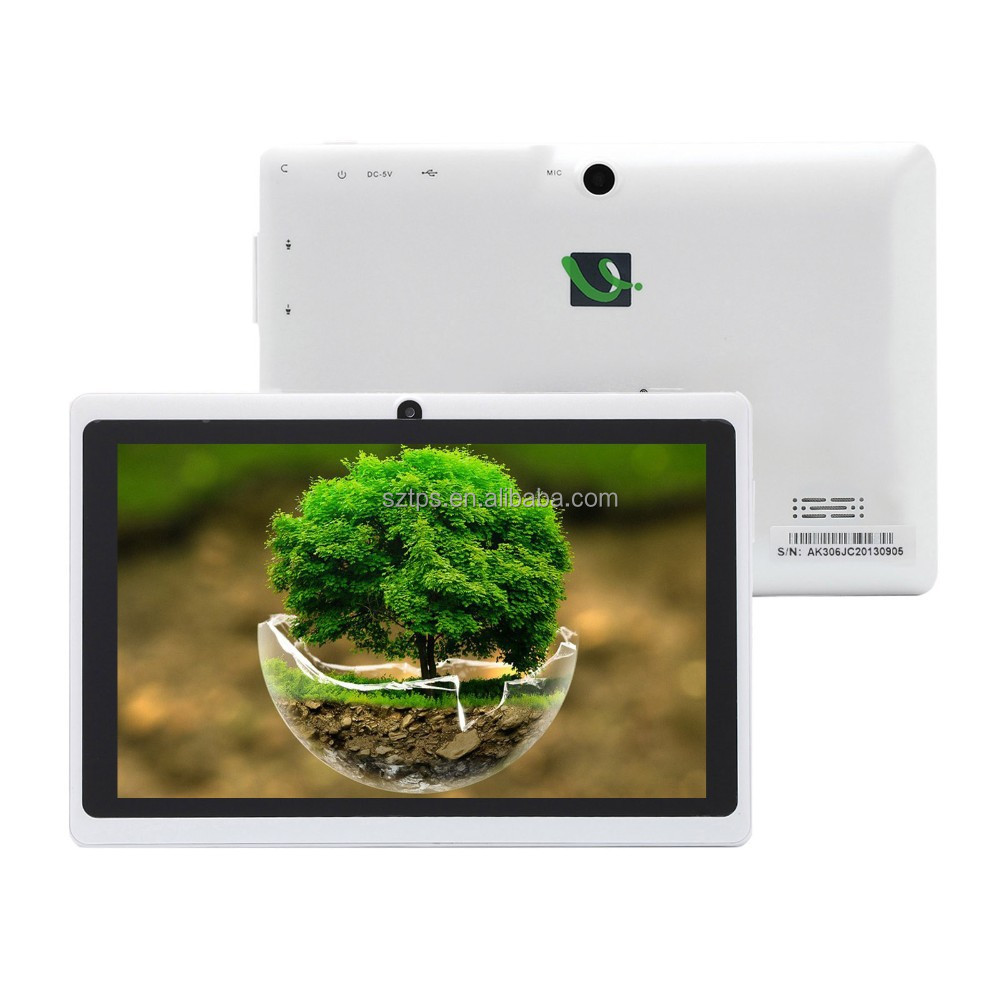 7 inch kt07 android 4.2.2 slim tablet pc 1+8gb 102*600ips 0.3+2.0 camera SOFIA 3GR pc tablet with DC jack tablet pc android 5.1