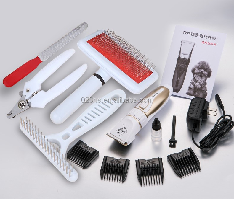 Low noise 110-220V pet grooming trimmer clipper with 2 original batteries