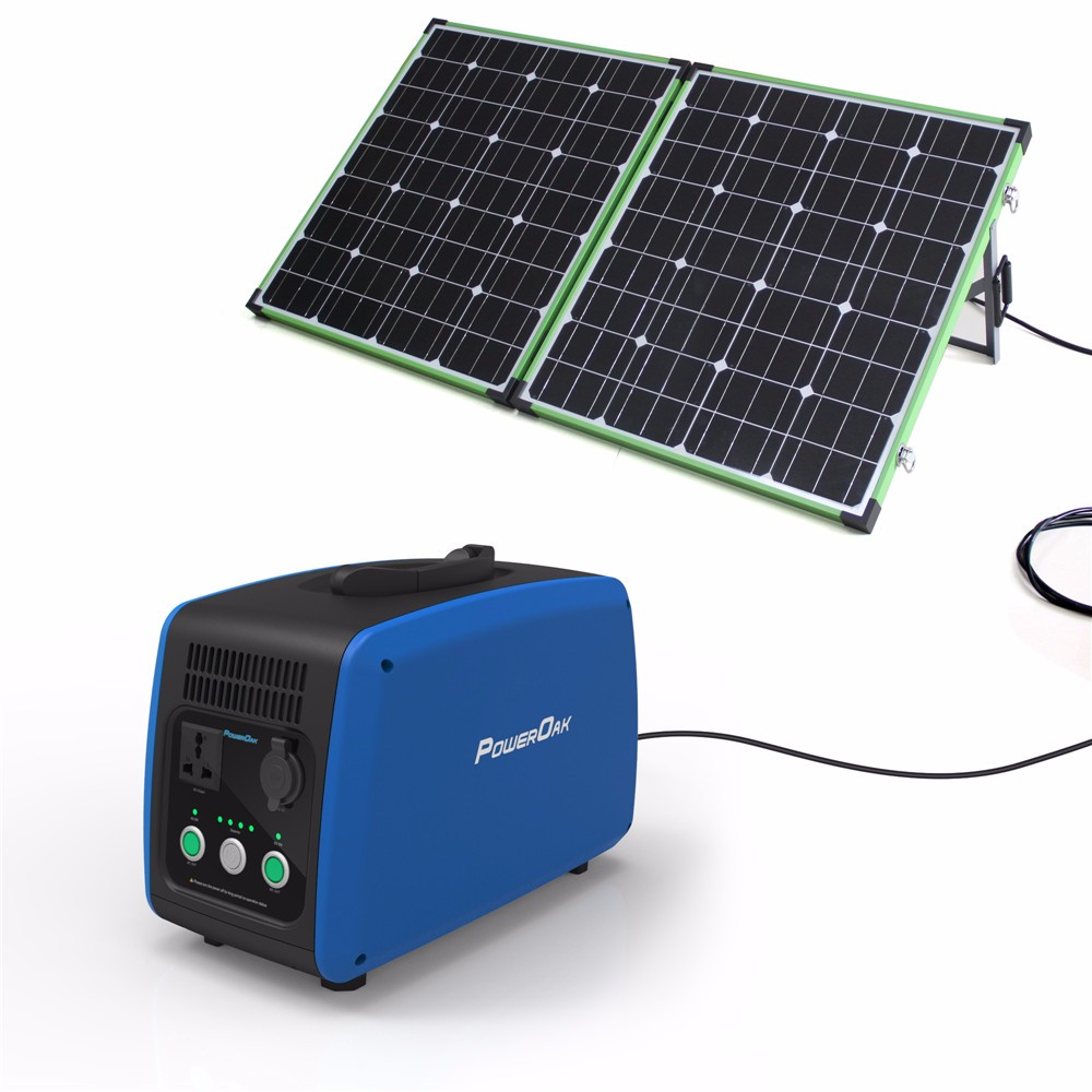 PowerOak 1200Wh 500w portable solar charger