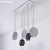 MEEROSEE Creative Round Pendant Light Modern LED Suspension Lamp for Kitchen Island Coffee Shop Cafe Color Optional MD85553