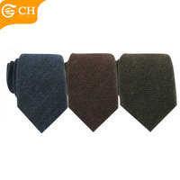 Fashion Accessories Colorful Tweed Mens Wool Ties for Custom