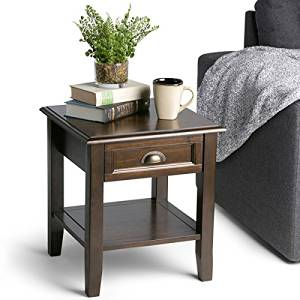 WYNDENHALL Portland End Side Table Materials Solid Plantation Grown Pine