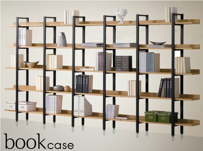 pas cher fer tag re en bois biblioth que tag res d 39 affichage une combinaison de clins tag re. Black Bedroom Furniture Sets. Home Design Ideas
